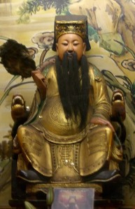 Imagem de Hua Tuo no Templo de Mengjia Longshan em Taiwan