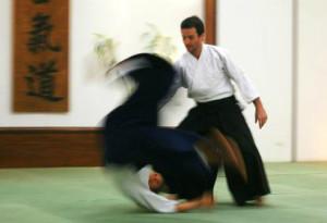 Raphael Sensei demonstrando uma técnica do Aikido