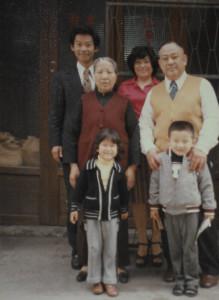 Mestre Liu Chih Ming durante seu período de formação junto de seu Mestre Hsiu Yan Tsai.